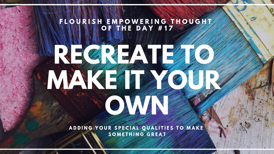 Re-create and make it your own