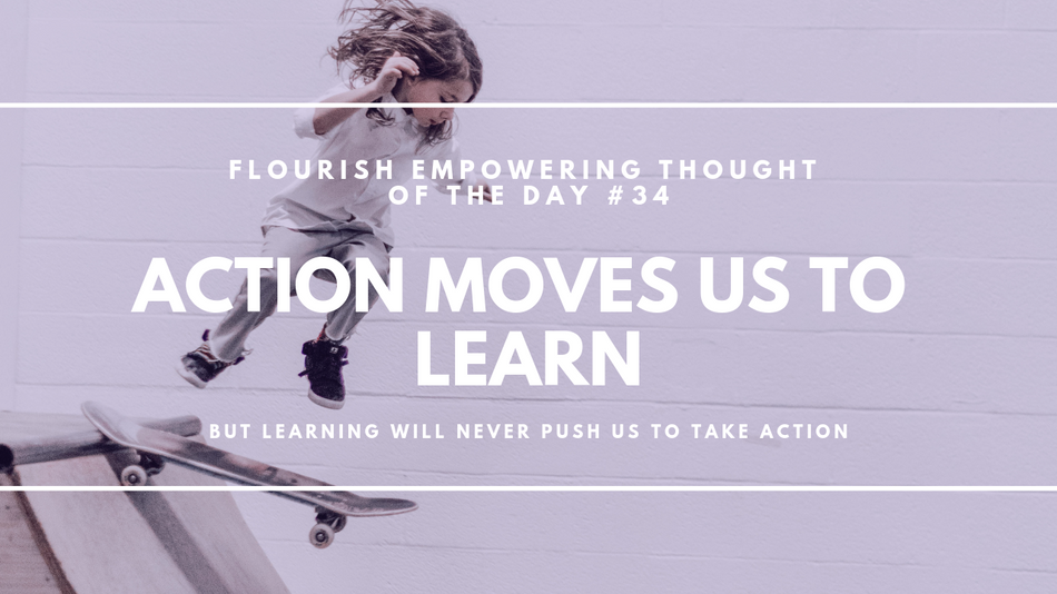 Action pushes us to learn (but not the other way around)
