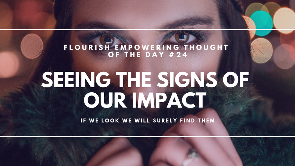 Seeing the signs of our impact