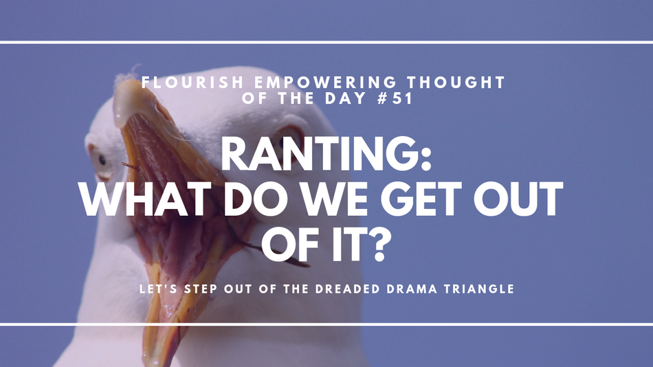 Ranting:  What do we get out of it?