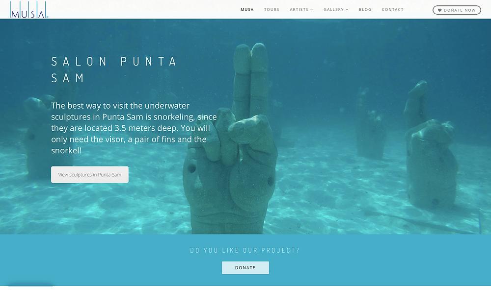 Museu subaquático no México