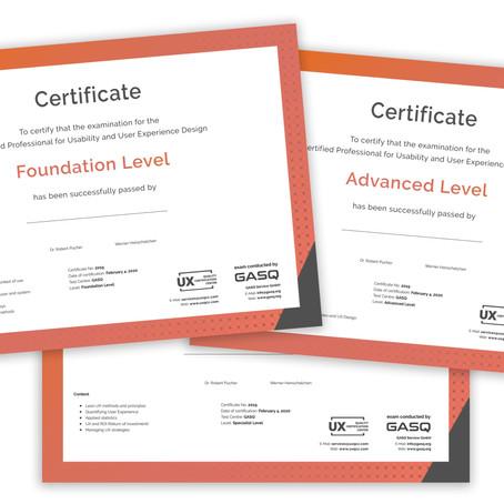 Certificado em UX