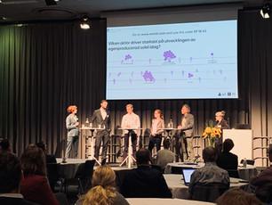 VIDEO: Spännande diskussioner när forskning och näringsliv möttes på SamspEL Arena på Solforum