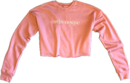 Earthtonesque Fleece Cropped Top (Soft Pink)