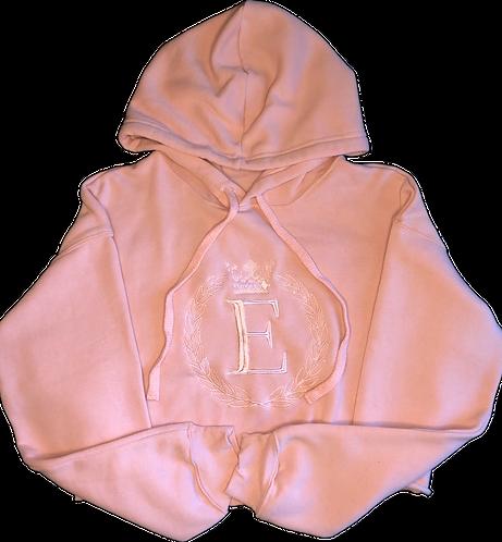 Royal Fleece Cropped Hoodie (Peach)