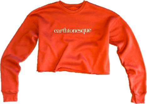 Earthtonesque Fleece Cropped Top (Apricot)