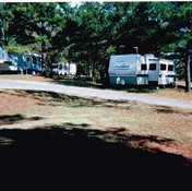 All sites are spacious at Hot Springs RV Park, Arkansas