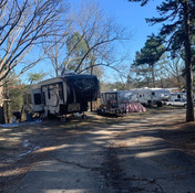Shaded and Open RV Sites at Hot Springs RV Park, Arkansas