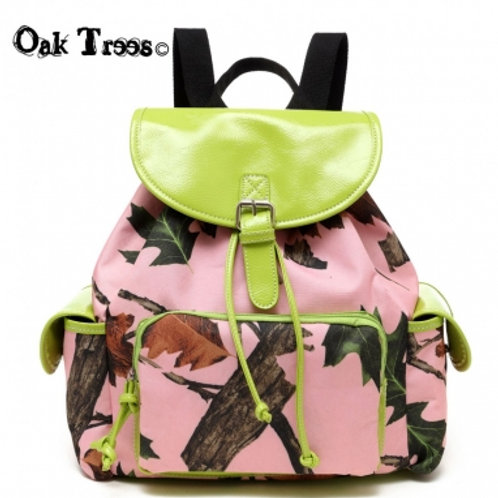 Lime Leaves N Trees Backpack