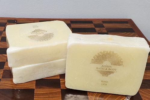 Handmade Rose Bar Soap