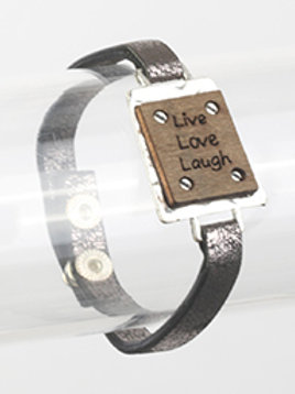 LEATHER LIVE LOVE LAUGH BRACELET