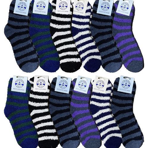 Fuzzy Striped Socks
