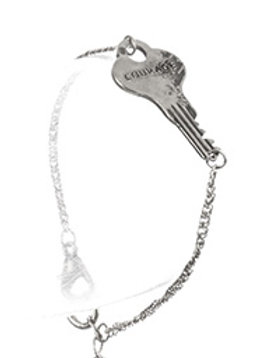 AGED FINISH METAL MESSAGE KEY CHAIN BRACELET