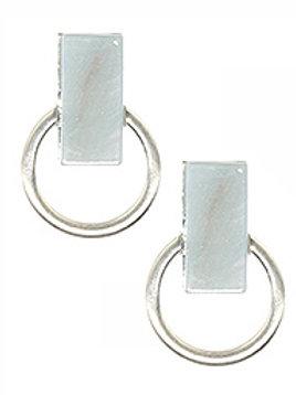 MATTE FINISH METAL RING EARRING