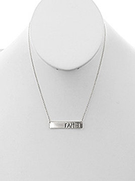 MATTE FINISH METAL MESSAGE PLATE NECKLACE