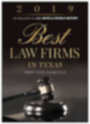 2019 Best Law Firms First-Tier Ranking