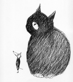 Cat and Rat looking up