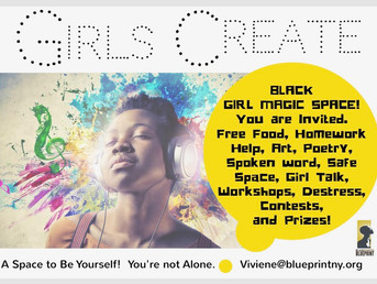 Girls Drop in Hours Opening at Black Women's Blueprint