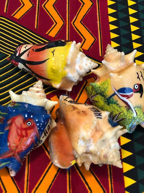 Handpainted Shells from Haiti