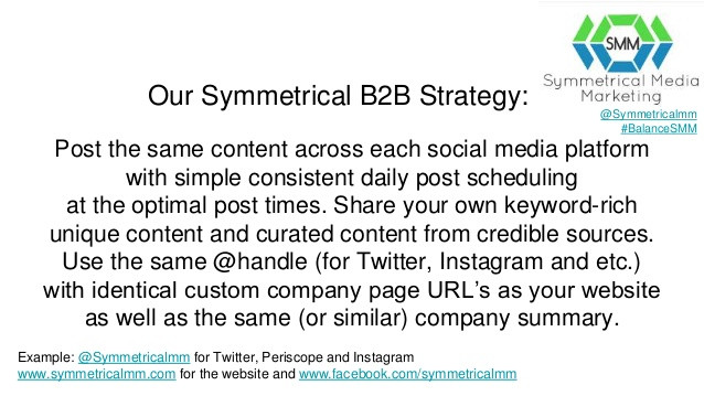 Symmetrical Media Marketing B2B Social Media Strategy