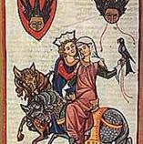 """""""אהבה חצרונית"""" באמנות ימי הביניים"""