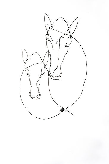 RvB Arts_Maiti_Two Horses 1_118 x 78 x 1