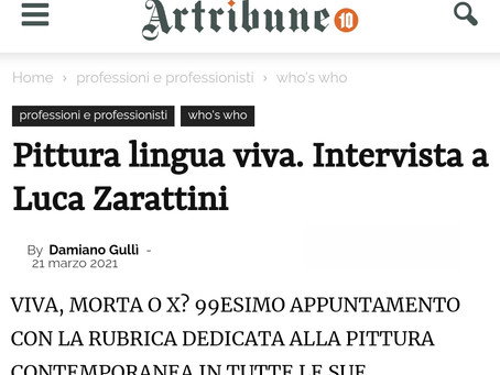 Zarattini | Interview on ARTRIBUNE