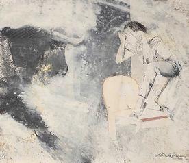 10 Toro con ragazza  —  grafite, sanguigna e olio su carta (42x49 cm)  —  2020.jpg
