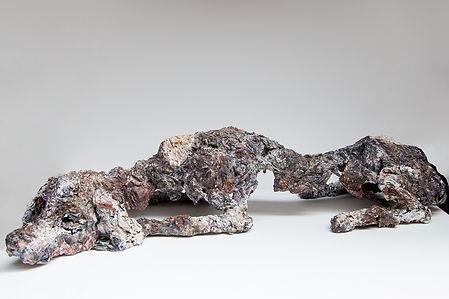 DOG'S WORLD #3 2019 | Paper mache and wire | 6 x 23.6 x 8.6 in Price: € 1,200