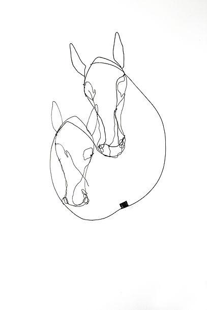 RvB Arts_Maiti_Two Horses 2_90 x 70 x 10