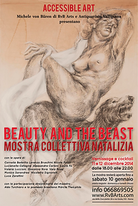 Beauty and the beast exhibition, the beuty and the beast mostra collettiva, rvb arts, migliori gallerie d'arte roma