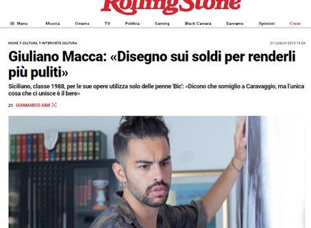 GIULIANO MACCA |Intervista sul Rolling Stone | Interview with Rolling Stone magazine