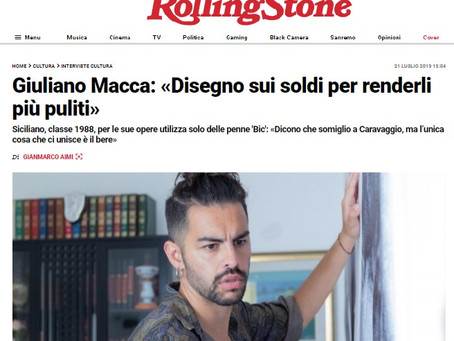 Giuliano Macca |Interview with Rolling Stone magazine
