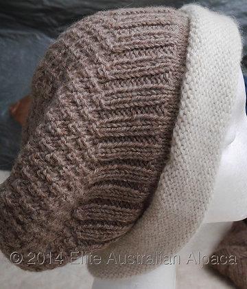 HT01 - Cloche  with Border - Grey+White