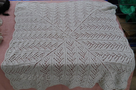 BS09 - Heritage Baby Blanket - Cream