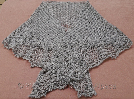 SH12 - Shell Shawl  - Medium Grey