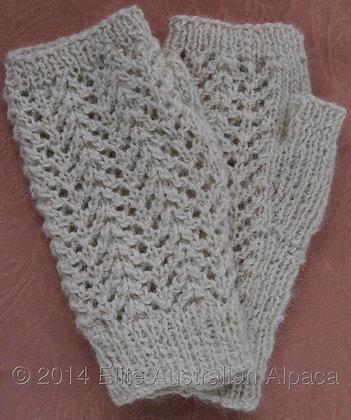GL03 - Lacy Fingerless Gloves - Cream