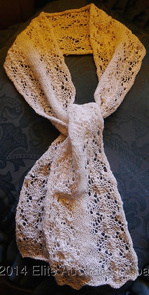 SF01 - Small Lace Scarf - White