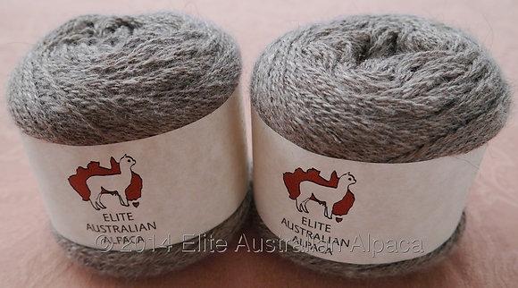 HMGY-2 - Huacaya Yarn - Medium Grey - 2ply