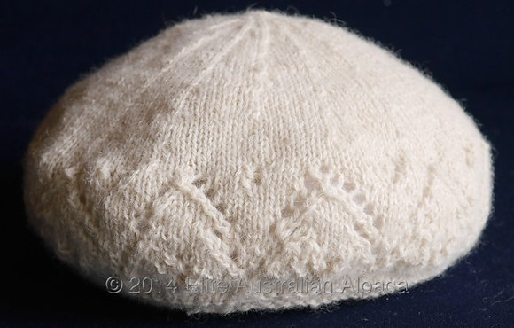 BS30S - Kids Lacy Beret - Cream