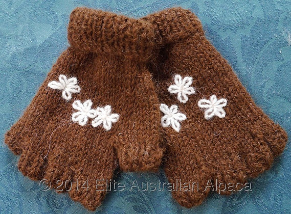 BS04 - Infant Fingerless Gloves - Brown