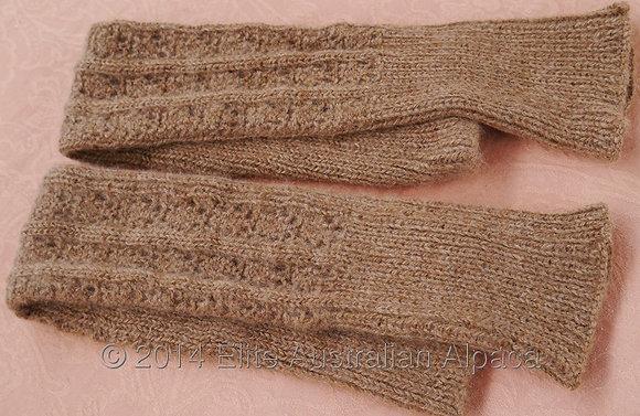LW02 - Lacy Leg Warmers - Medium brown