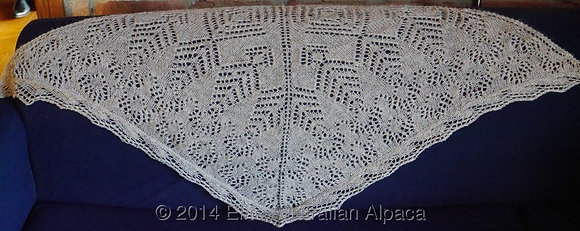 SH13 - Snow Flake Shawl - Medium Grey