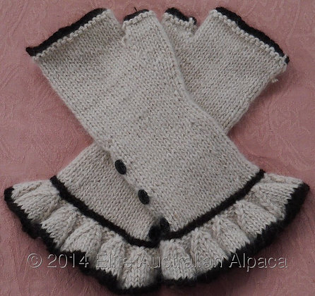 GL01 - Audrey Style Fingerless Gloves - Fawn+Brown
