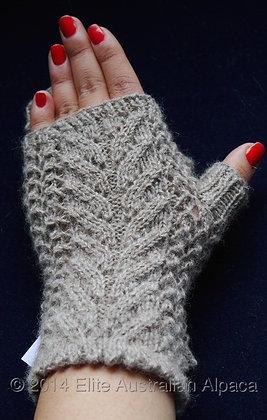 GL04-G - Feather Fingerless Gloves - Grey