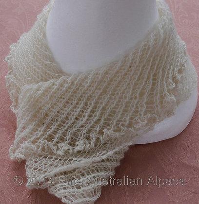 CL01 - Lace Cowl - White - Silk/Alpaca