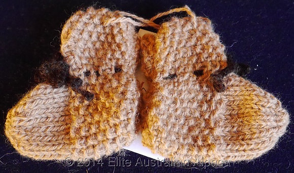 BS21 - Seed Baby Booties - Dark Fawn/Tan