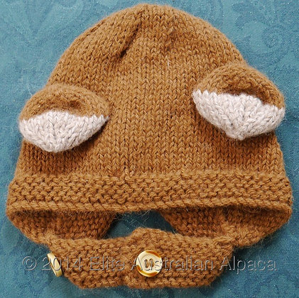 BS08 - Baby Helmet with Ears - Tan