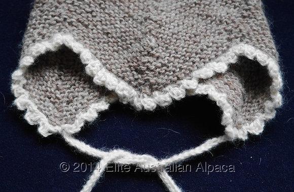 BS25 - Baby Angel's Helmet - Taupe+White