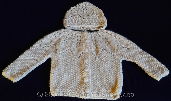 BS19 - Star Baby Jacket & Hat Set - Cream